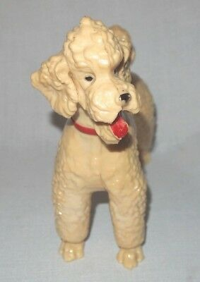 "Vintage Breyer White/Cream Poodle with Red Collar 8.25""h"