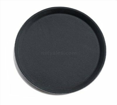 New Star Foodservice 24913 Non-Slip Tray, Plastic, Rubber Lined, Round, 11-inch,