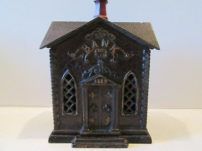 Villa Bank (1882 Church) (Antique Cast Iron Still Bank)