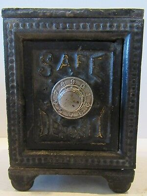 Safe Deposit Combination (Antique Cast Iron Still Bank)