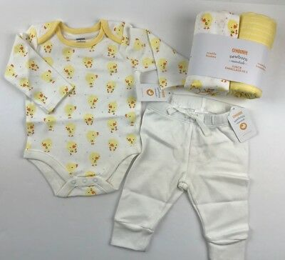 NWT Gymboree Baby Unisex 0-3 Mo 4 Pc Outfit Set Swaddles Shirt Pants Ducklings