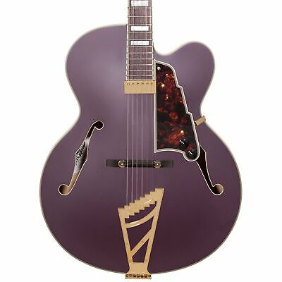 D'Angelico Deluxe EXL-1 Hollowbody Electric Guitar w/Case - Matte Plum