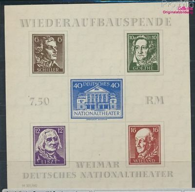 Soviet Zone Allied cast. block3a IV unused 1946 National Theater (7482642