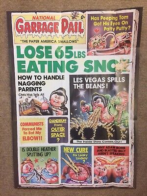 1986 Garbage Pail Kids Poster ~ National Garbage Pail #11 ~ Vintage~ Topps ~ New
