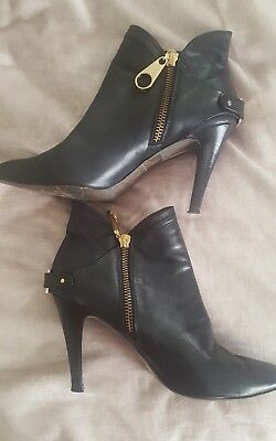 71c0c6b8b7396 TED BAKER LONDON Women s Black Leather Ankle Boots Shoe Size 8 NEW ...