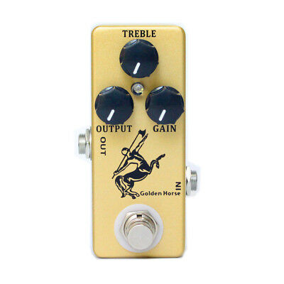 Mosky Audio Golden Horse Guitar Effect Pedal Overdrive Boost MINI Klon Centaur