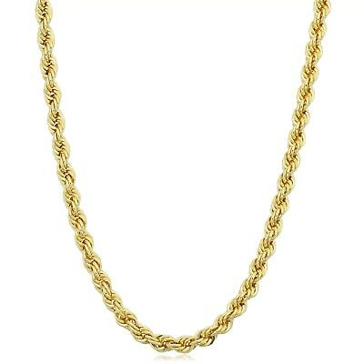"Real 10K Gold Rope Chain ITALY MADE 16"" 20"" 22"" 24"" 26"" 28"" 30"" 2-4mm 100+ Sold"