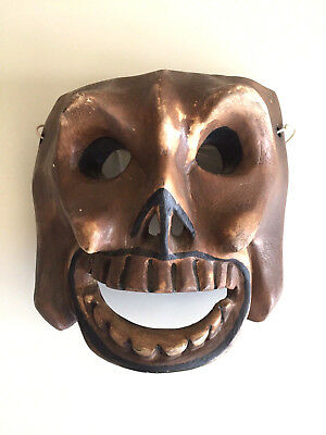 VTG Mexico Guerrero Folk Art SKULL Mask Mexican Day of the dead ceremonial dance