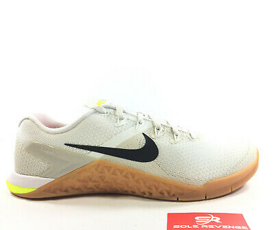 NEW NIKE METCON 4 WhiteLight BoneVolt Cross Training Mens