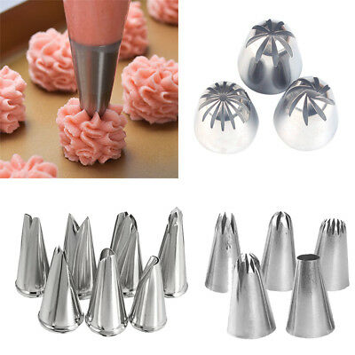 Stainless Steel Icing Piping Nozzles Cake Cupcake Decorating Tips Pastry Tools