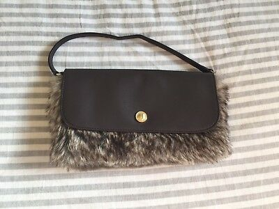 Janie and Jack Brown Faux Fur Purse EUC Worn Once