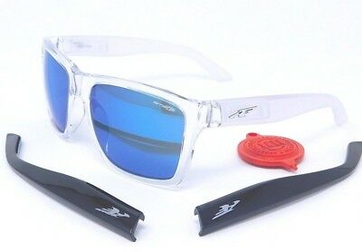 Arnette WITCH DOCTOR Sunglasses AN4177-05 2158 55 Clear  Black  Blue Mirror  lens 6fd5411cae