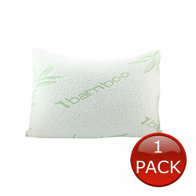 1 x LUXURY BAMBOO PILLOW QUEEN MEMORY FOAM FIBRE SHREDDED RELIEF 60 x 40cm