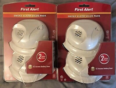 TWO Packs of Two First Alert Smoke Alarm 2 VALUE PACK | Model SA300 NEW Lot
