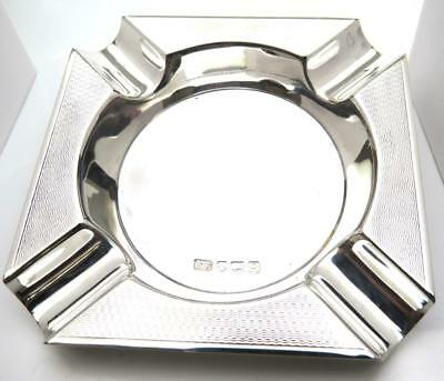 Solid Silver Ashtray Viners Ltd Sheffield 1959 Lovely Condition 74.3 gr Free P&P