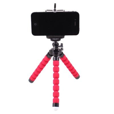 1X Flexible Octopus Tripod+Holder Clip Stand Mount For Cell Phone Camera DC