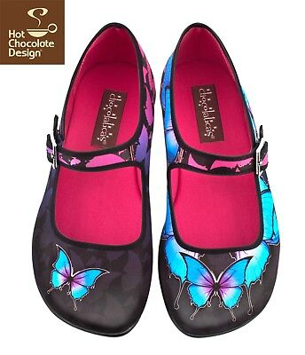 Dark Butterfly - Hot Chocolate Design shoes multiple sizes