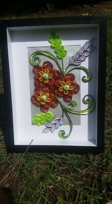 Handmade Gift Ombre Red Quilled Flowers