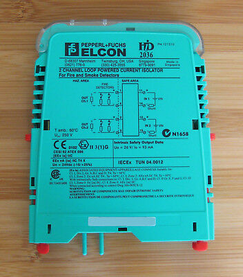 Pepperl+Fuchs ELCON HiD 2036 HiD2036 121510 2 Ch. Loop Powered Current Isolator