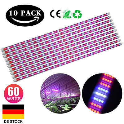 30pcs 60W 120cm T8LED Pflanzenlampe Tube voll spektrum Röhre Grow Light SMD2835
