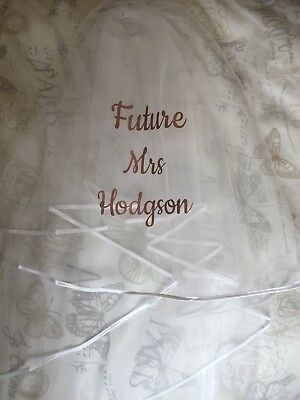Personalised wedding Veil With Comb. Bride To Be,  hen party Rose Gold christmas