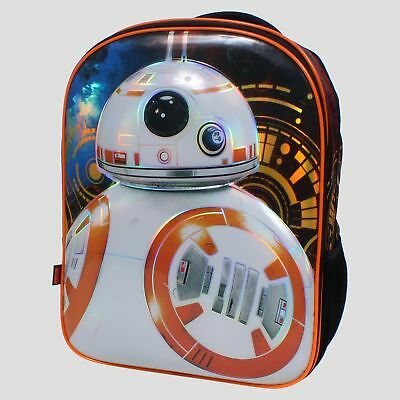 "Star Wars BB8 16"" Kids' Backpack - motion Lights Up! Very cool NEW"
