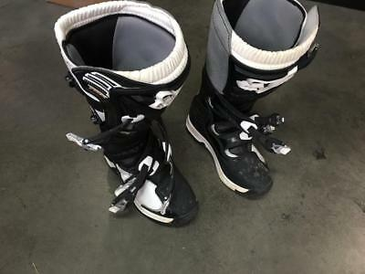 Womens Fox Racing Comp 5 Mx Motocross Dirtbike Boots Womens Size 7W / 39 Black