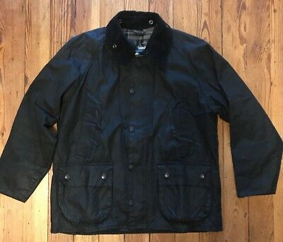 Barbour Bedale Medium 40 Men's Waxed Jacket Made In England Black