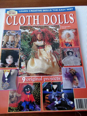 "Dolls Bears Collectables ""Cloth Dolls"" Magazine"