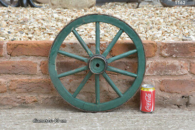 43 cm - vintage old wooden cart wagon wheel - FREE DELIVERY