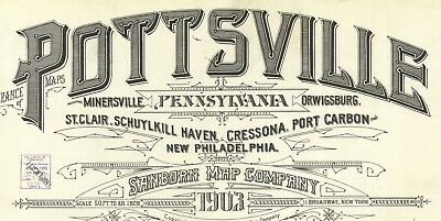 Pottsville, Pennsylvania~Sanborn Map© sheets ~1903~ over 50 maps in color