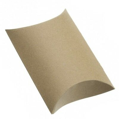 Brown Paper Small Pillow Jewellery Gift Box 12x8x3cm Pack of 1 (G36/2)