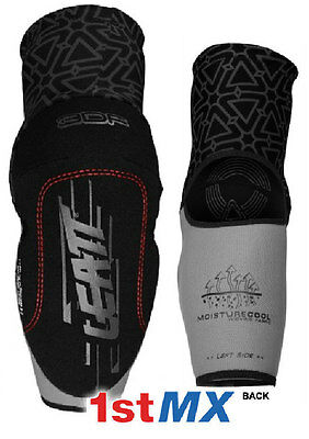 Leatt 3DF Elbow Guard Protector Pads Motocross Enduro Black Adults XXL