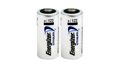 2 x CR123 Energizer 3V Lithium Batteries (CR123A,DL123, EL123, CR17345) EXP 2028