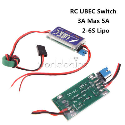 HOBBYWING RC UBEC Switch 2-6S Mode 5V 6V Regulator 3A Max 5A Lowest Noise RF BEC