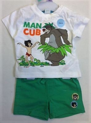 Baby Boys Disney Jungle Book Mowgli Baloo Top Short Summer 3 months to 2 years