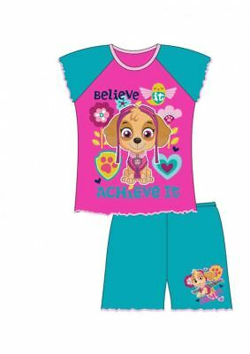 GIRLS TODDLER PAW PATROL Skye short shortie pyjamas, pj's 1 2 3 4 5 years NEW