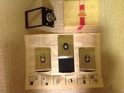3 Rollei Cut Film Plates and Adapter For RolleiFlex Camera