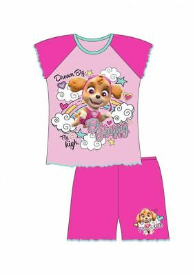 BRAND NEW GIRLS TODDLER PAW PATROL Skye short shortie pyjamas, pj's 1 to 5 years
