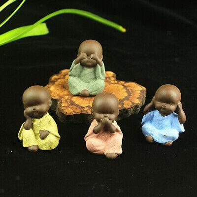 Chinese Kung Fu Tea Pet Little Buddha Monk Statue for Home Tea House Decor