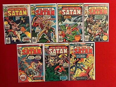Bronze Age The Son of Satan 1-7 (1975) High Grades. 1 owner collection