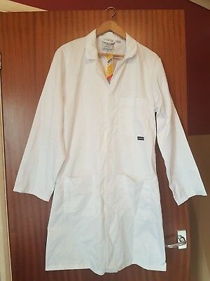 Portwest Fortis 245 White Standard Lab Coat Overall Size Small BNWT