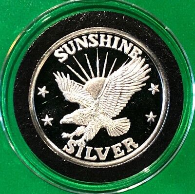 Sunshine Mining Eagle 1/4 Troy Oz .999 Fine Silver Round Proof Collectible Coin