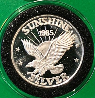1985 Sunshine Eagle 1/2 Troy Oz .999 Fine Silver Round Proof Collectible Coin