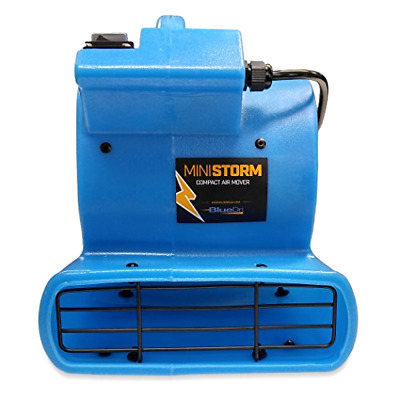 Soleaire Mini Air Mover Carpet Dryer-1/12 HP Floor Blower Fan for Home Use, Blu