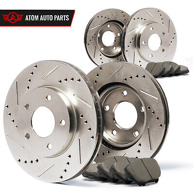 2003 2004 2005 2006 2007 Jeep Liberty (Slotted Drilled) Rotors Ceramic Pads F+R