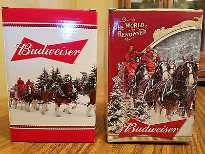 2015 2016 2017  Budweiser Holiday Steins Annual Clydesdale Christmas Beer Busch