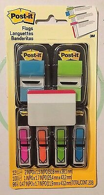 Post-it Flags and Arrow Flags Value Pack, 208 in Total in Three Sizes    (New)
