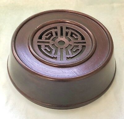 "4.75"" Brown Chinese Oriental Wooden Lid Cap Cover for Ginger Jar and Vases"