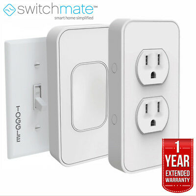 Switchmate Instant Smart Home Starter Kit, Toggle w/ Outlet + Extended Warranty
